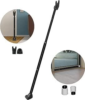 Securityman 2-in-1 Door Security Bar & Sliding Patio Door Security Bar - Constructed of High Grade Iron - Black