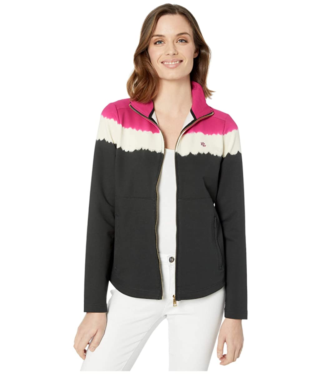 LAUREN Ralph Lauren Cotton-Blend Mock Neck Jacket (9415094877747)