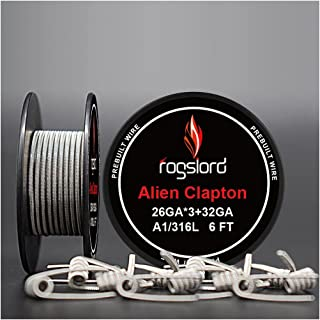 6 ft - AWG 26GAx3+32GA Alien Resistance Wire Kanthal A1+ SS316L Prebuilt Wire Coils for Household Wiring Use