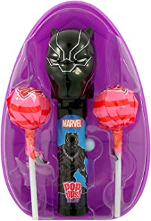 Marvel Avengers Giant Easter Egg with Black Panther Pop Up Lollipop Case and 2 Suckers, 0.7 Ounce
