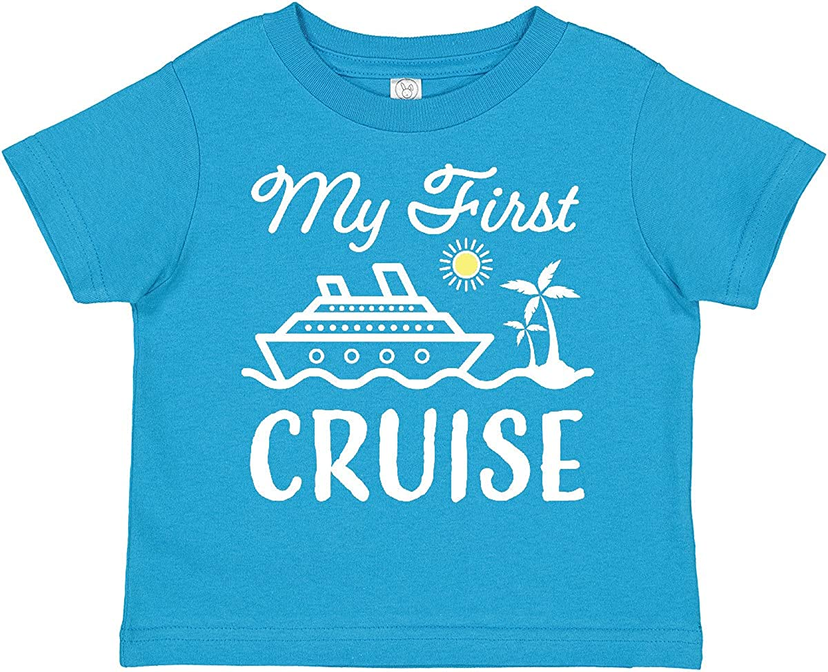 inktastic My First Cruise with Toddle Popular brand in the world Trees Ship Palm and New mail order