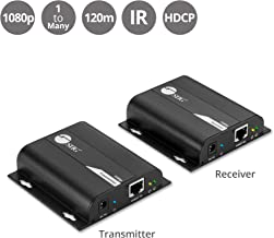 SIIG HDMI Extender Over IP Using Single Cat5e/Cat6 Cable with IR Extension Control - Full HD 1080p at 394ft (120m) - HDMI Balun Over Ethernet [One to One & One to Many Connections]