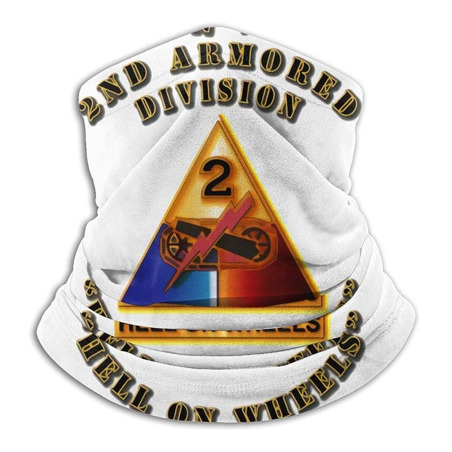 早熟州友だち2nd Armored Division With Armor Insignia ネックガード フェイスカバー UVカット バンダナ 冷感 夏 紫外線対策 吸汗速乾 日よけ サイクリングカバー 男女兼用