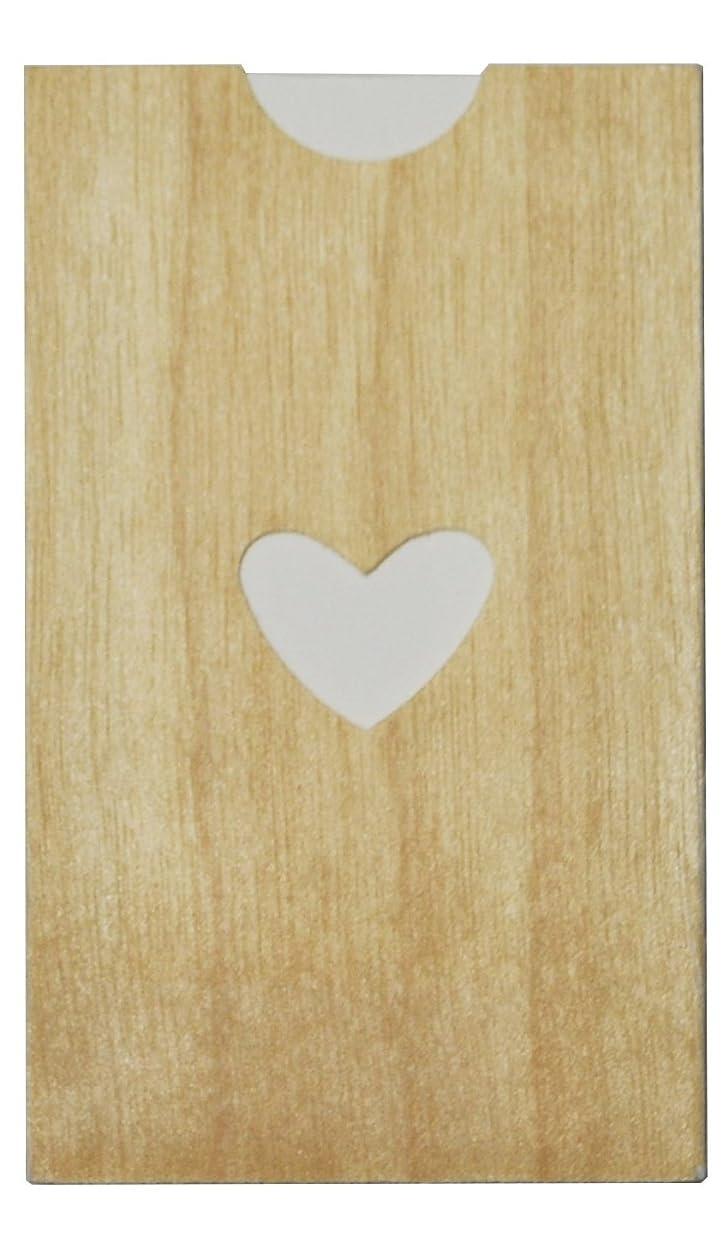 ハウジングビーム優雅なyuica(ユイカ) 香りのカード /ハート(ヒノキのシートケース+ムエット紙10枚)