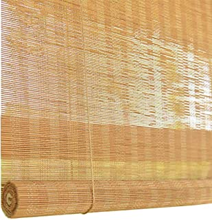 Roller Shades Japanese-Style Bamboo with Valance, Light Filtering Roll up Blinds, 80cm/ 90cm/100cmcm/120cm Wide, Size Optional (Color : Hook up, Size : W90×H200cm)