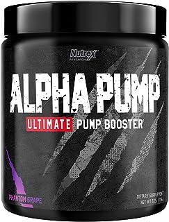 Nutrex Research Alpha Pump Stim-Free Pre-Workout Pump Booster | Ultimate Muscle Pumps, Non Stimulant Nitric Oxide Preworko...