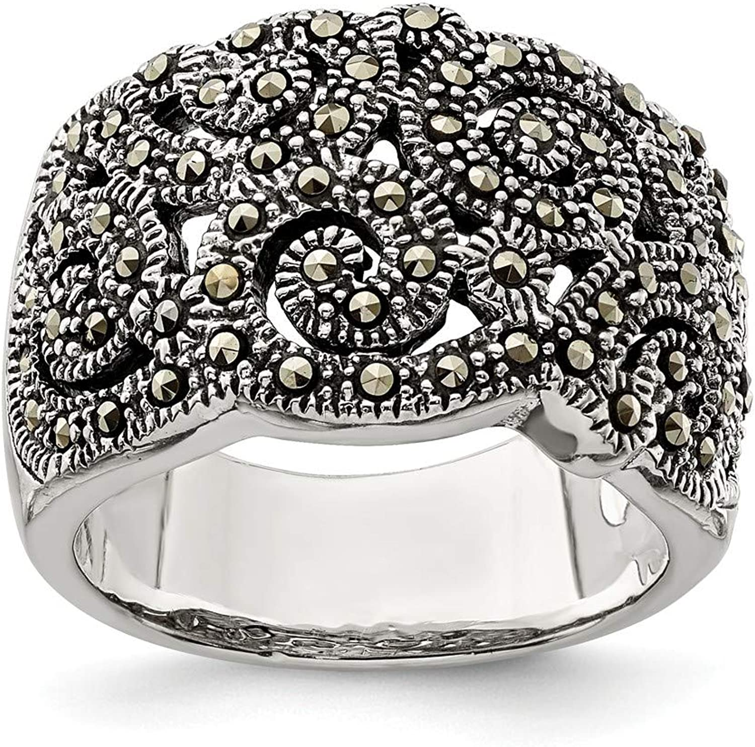 Beautiful Sterling silver 925 sterling Sterling Silver Marcasite Ring