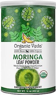 Organic Veda Moringa Powder 1 LB (16 oz) USDA Organic Certified   100% Pure Raw Organic..
