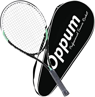 OPPUM Adult Carbon Fiber Tennis Racket, Super Light Weight Tennis Racquets Shock-Proof..