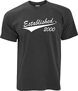 Tim And Ted Mens 21st Birthday T Shirt Established in 2000 Logo Tee