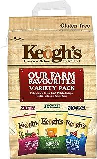 Keogh's Farm Favourites Potato Chips Crisps Variety Multipack 6 Packs ( Pack of 4 ) - (Irish Online Supermarket)