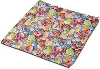 NFDF Colorful Lollipop Square Bath Towel, 13 Inch Washcloth Multipurpose Use for Sports, Travel, Bath, Beach, Kitchen