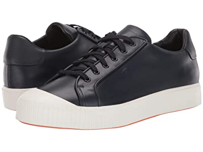 Santoni Max Lace-Up Sneaker (Blue) Men
