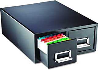 STEELMASTER Drawer Card Cabinet Holds 3000 6 x 9 cards, 20 3/8 x 16 x 8 3/8 inches (263F6916DBLA)