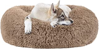 MIXJOY Calming Dog Bed for Small Medium Large Dogs, Faux Fur Donut Cat Puppy Bed, Self Warming Indoor Sleeping Pet Bed, Wa...