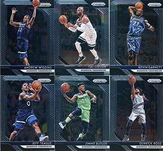 2018-19 Panini Prizm Basketball Minnesota Timberwolves Team Set of 10 Cards with rookies: Josh Okogie(#37), Keita Bates-Diop(#47), Jeff Teague(#57), Jimmy Butler(#67), Derrick Rose(#77), Andrew Wiggins(#87), Taj Gibson(#97), Karl-Anthony Towns(#107), Gorgui Dieng(#117), Kevin Garnett(#235)