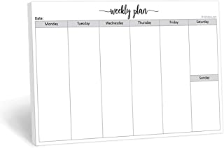 321Done Weekly Planning Notepad Landscape - 50 Sheets (8.5