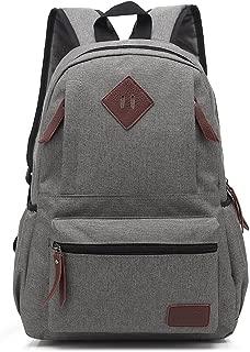 AchirStyle Lightweight Canvas Laptop Bag Shoulder Daypack Bag School Backpack for Men Women School Children Causal Handbag (Grey)