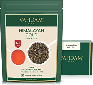 Sponsored Ad - VAHDAM, Himalayan Gold Black Tea (50 Cups) | 100% PURE Black Tea Leaves with GOLDEN TIPS | ROBUST, RICH & F...