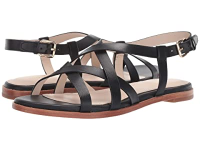 Cole Haan Analeigh Grand Strappy Sandal (Black Leather) Women