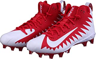 NIKE Alpha Menace Pro Mid Men's Football Cleats 871451 611 University Red/White - White (10.5)