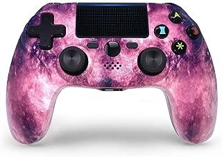 PS4コントローラーワイヤレスGalaxyスタイルゲームパッドfor PS4 / Pro/Slim/PC、高精度タッチパッド、オーディオ機能、ミニLEDインジケーター、USBケーブル