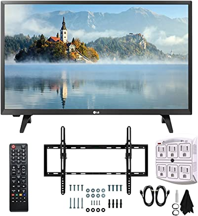 "$159 Get LG 28LJ430B-PU 28"" Class HD 720p LED TV (2017 Model) with Slim Flat Wall Mount Kit and 750 Joule 6-Outlet Surge Adapter Ultimate Bundle"