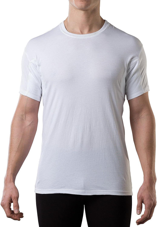 Sweatproof Undershirt for デポー 賜物 Men with Underarm Original Pads Sweat