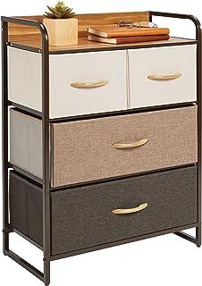 mDesign commode à 4 tiroirs – grande étagère à tiroirs pour la chambre, le salon, l'entrée, la salle de bain, etc. – range...