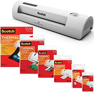 3M Laminator Kit With Every Size Laminating Pouch (Renewed)