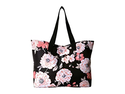 Roxy Wildflower Printed Tote (Anthracite S New Flowers) Tote Handbags