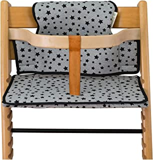 Janabebe Cushion for highchair Stokke Tripp Trapp (Black Star)