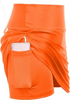Women's Active Athletic Skorts Exercise Skirt with Pocket for Tennis Golf Sport Workout