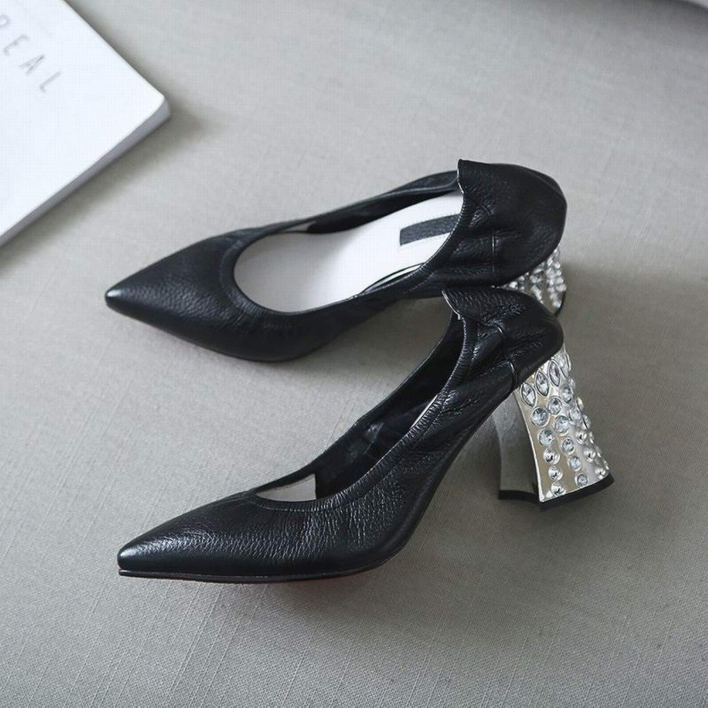SED High-Heels Damenmode Sexy Schuhe Mary Mary Jane Scharf mit Elastischen Leder Einzelnen Schuhe Frauen  Limit kaufen