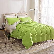 مجموعة أغطية السرير السادة المكونة من أربع قطع من AB ومصبوغ بلون الكتان للسرير غطاء السرير غطاء السرير 100% ألياف البوليست...