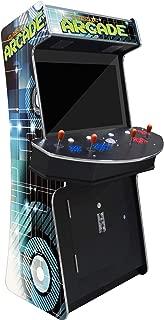 Creative Arcades Slim Full-Size Commercial Grade Cabinet Arcade Machine | Trackball | 3500 Classic Games | 4 Sanwa Joysticks | 2 Stools | 32