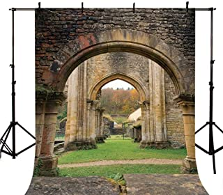 Antique Decor Stylish Backdrop,Autumn View on The Ancient Ruins of Famous Medieval Century in Belgium for Photography,118