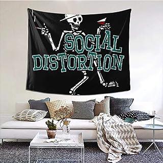 タペストリー Social Distortion おしゃれ インテリア 壁掛け 布ポスター 模様替え 個性 家庭飾り 和室 洋室 壁吊り 多機能ホーム装飾 背景布 130cmx150 Cm