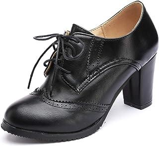 [Stylein] レディース ハイヒール オックスフォードシューズ ショートブーツ 歩きやすく おしゃれ