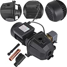 Happybuy Shallow Well Jet Pump with Pressure Switch 3/4HP Jet Water Pump 170.6 ft Cast Iron Jet Pump with Jet Ejector Assembly to Supply Fresh ell Water to Residential Homes Farms Cabins