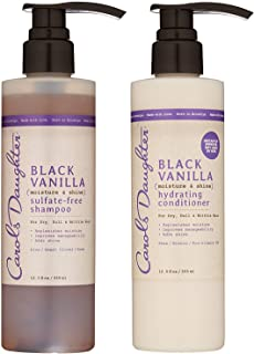 Carol's Daughter Black Vanilla Hair Care Gift Set for Dry/Dull & Brittle Hair, Kit 2