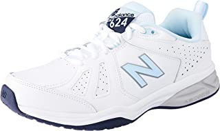 New Balance Women's 624 Cross Training Shoes, White/Blue