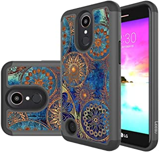 LG K20 V Case,LG K20 Plus Case,LG K20V Case,LG Harmony Case, LG Grace LTE Case, LEEGU [Shock Absorption] Dual Layer Heavy Duty Protective Silicone Plastic Cover Case for LG LV5 - Gear Wheel