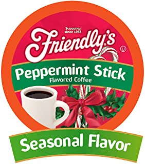 Friendly's Peppermint Flavored Coffee Pods for Keurig K Cup Brewers, Peppermint Stick ,40 Count