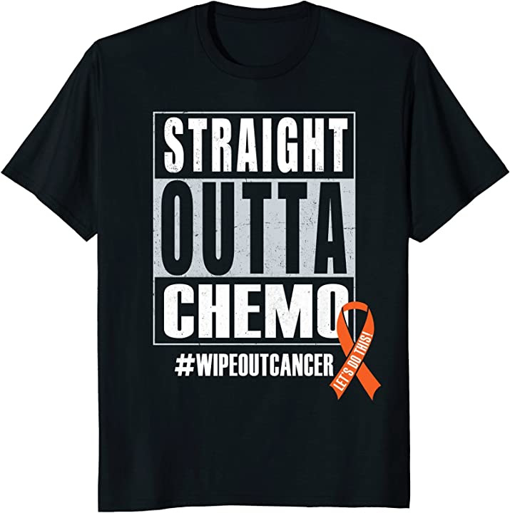 Straight Outta Chemo - Cancer Awareness T-Shirt