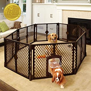 North States MyPet Indoor/Outdoor Petyard: Pet enclosure with lockable pet door. Freestanding (26