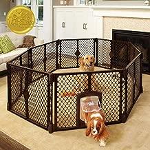 North States MyPet Indoor/Outdoor Petyard: Pet enclosure with lockable pet door. Freestanding (26