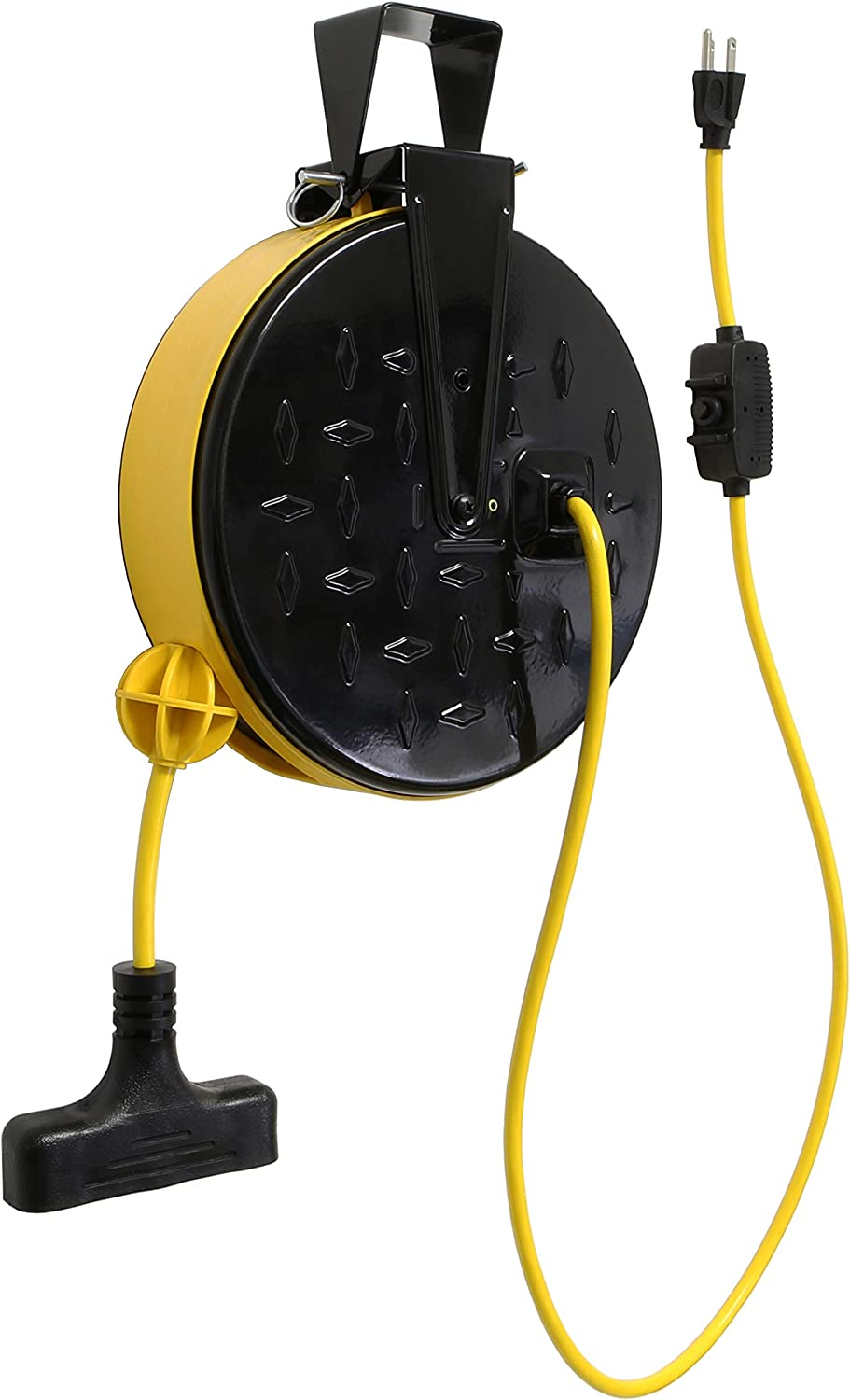 Lightkiwi B6954 30-ft Retractable Extension Omaha Mall AWG Cord Reel 3 16 Many popular brands