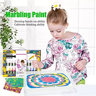 marbling Paint Kits Kids Water Color Ebru Starter Set Marbling Ink Paint Set for Paper Fabric Innovative Handmade Art Crafts Set Toys 8 Colors 35 ml for Each