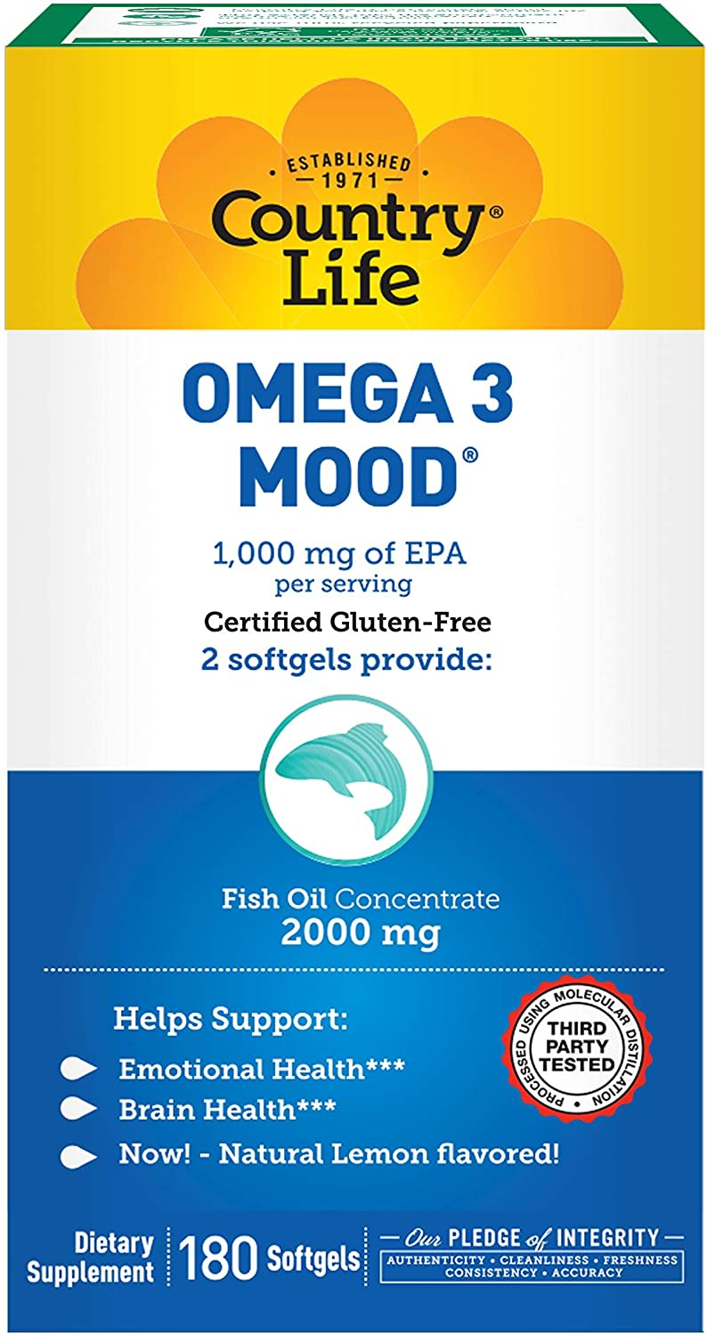 Country Life Omega 3 Mood Inventory cleanup selling sale Inventory cleanup selling sale 180-Softgels 2000mg